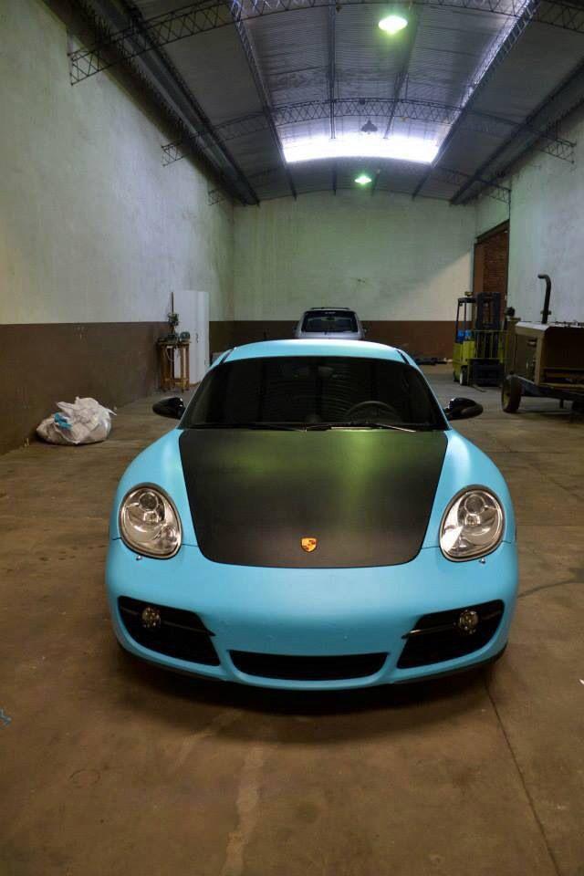 Matte sky blue porsche vvivid vinyl   VViViD Auto Projects   Porsche