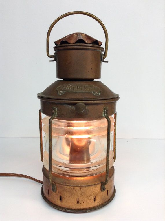Nautical Vintage Brass Lamp Lantern Ankerlicht Dhr Den Haan Rotterdam Ship Boat Maritime Light Lamp Industrial Lighting Beach Minimalist Lamp Light Beautiful Lamp Lamp