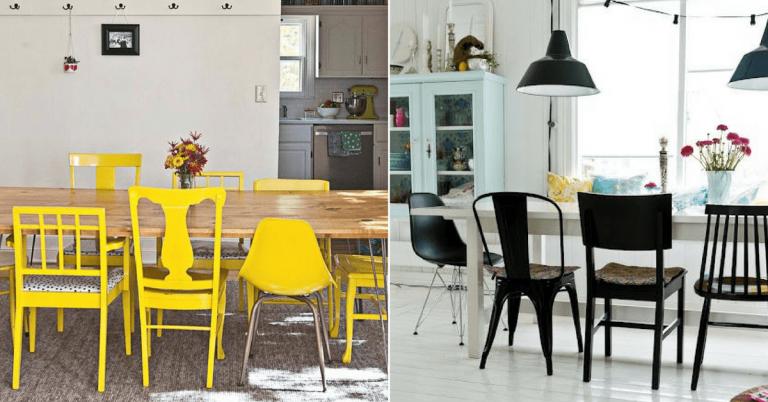 chaises d pareill es 59 id es pour les assortir astuces en photos chaises pinterest. Black Bedroom Furniture Sets. Home Design Ideas