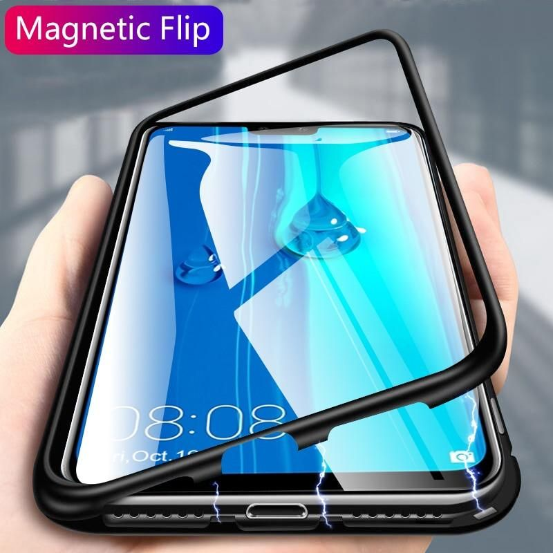 best website d6ba1 a85a7 Magnetic Adsorption back covers for Huawei Y9 2019 Case for Huawei ...
