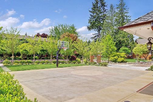 Stained Concrete Basketball Court