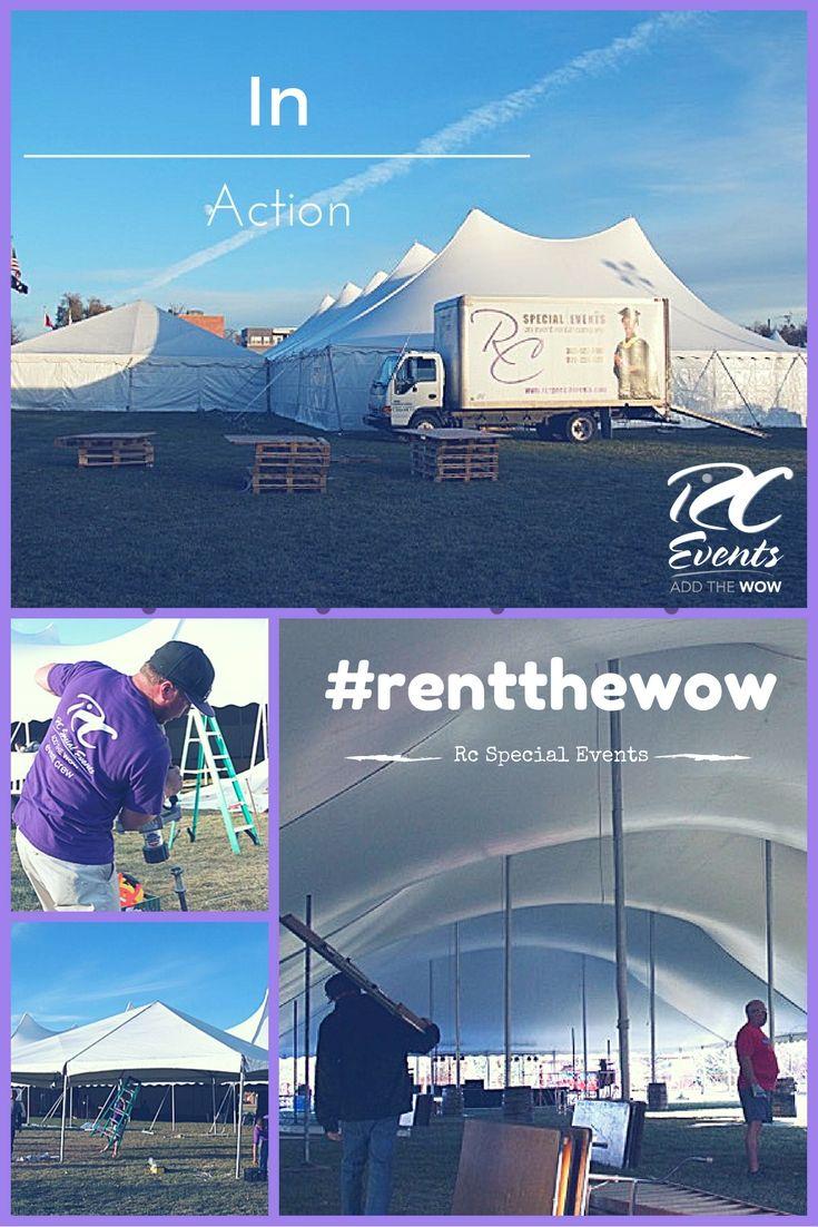 Nitrofest 2016 Pole Tent Set Up In Longmont Colorado