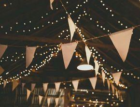 Puro romance! 20 ideas maravillosas para decorar luces en la boda