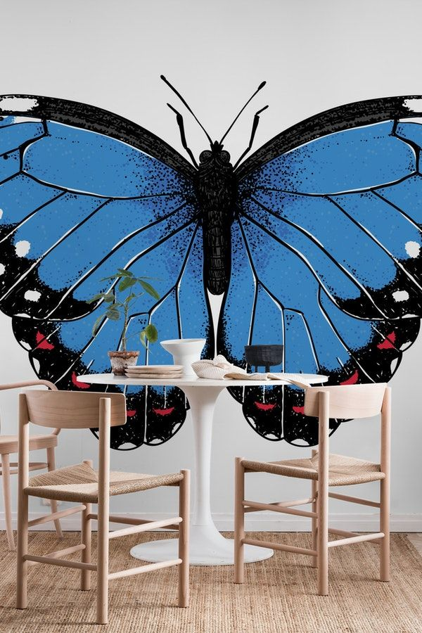 Blue morpho butterfly 3 wall mural from Happywall # ...