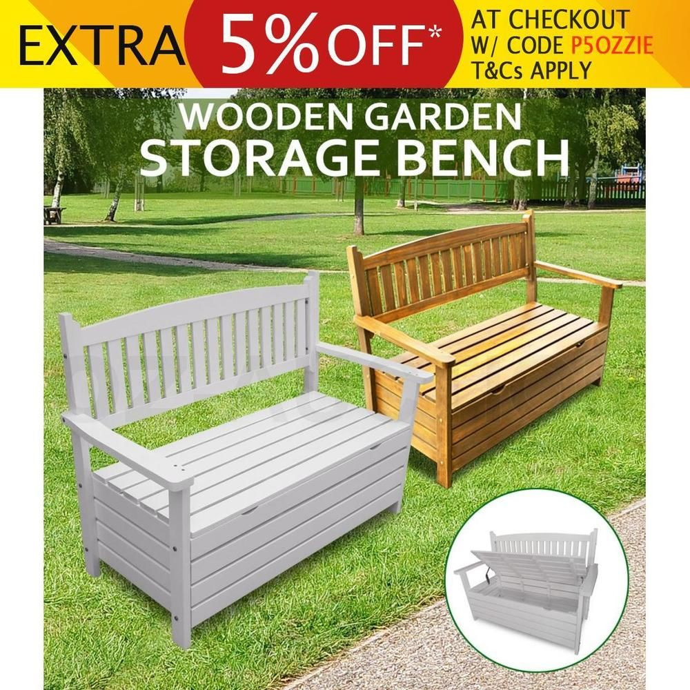 Tremendous Details About Wooden Storage Bench Box Timber Garden Chair Evergreenethics Interior Chair Design Evergreenethicsorg