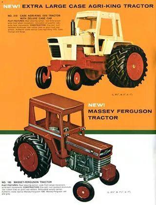 Vintage 1 16 Case 1070 Massey Ferguson 180 Ad Farm Toys