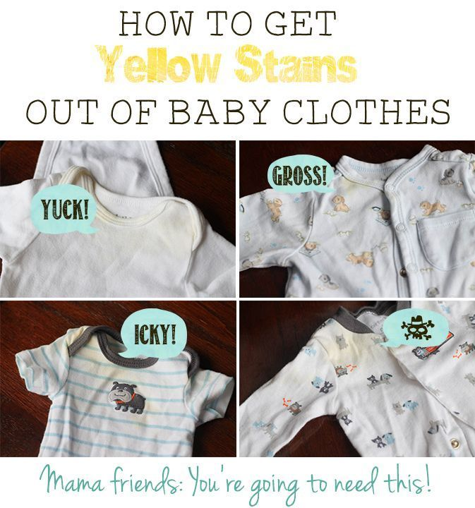 How To Remove The Yellow Staining That Shows Up In Stored Baby