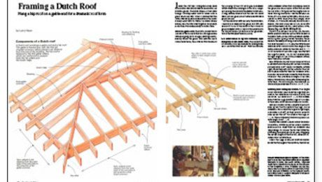 Framing A Dutch Roof Dutch Gable Roof Hip Roof Roof Framing