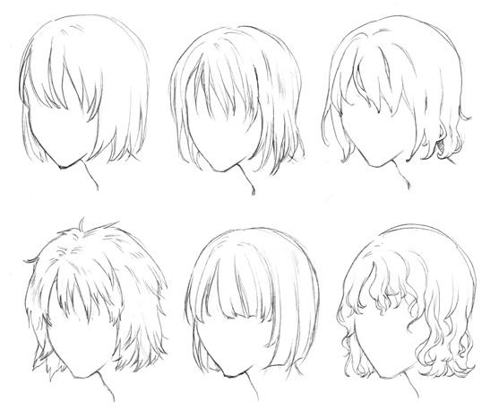Anime Hair Bun Google Search Manga Hair Short Hair Drawing