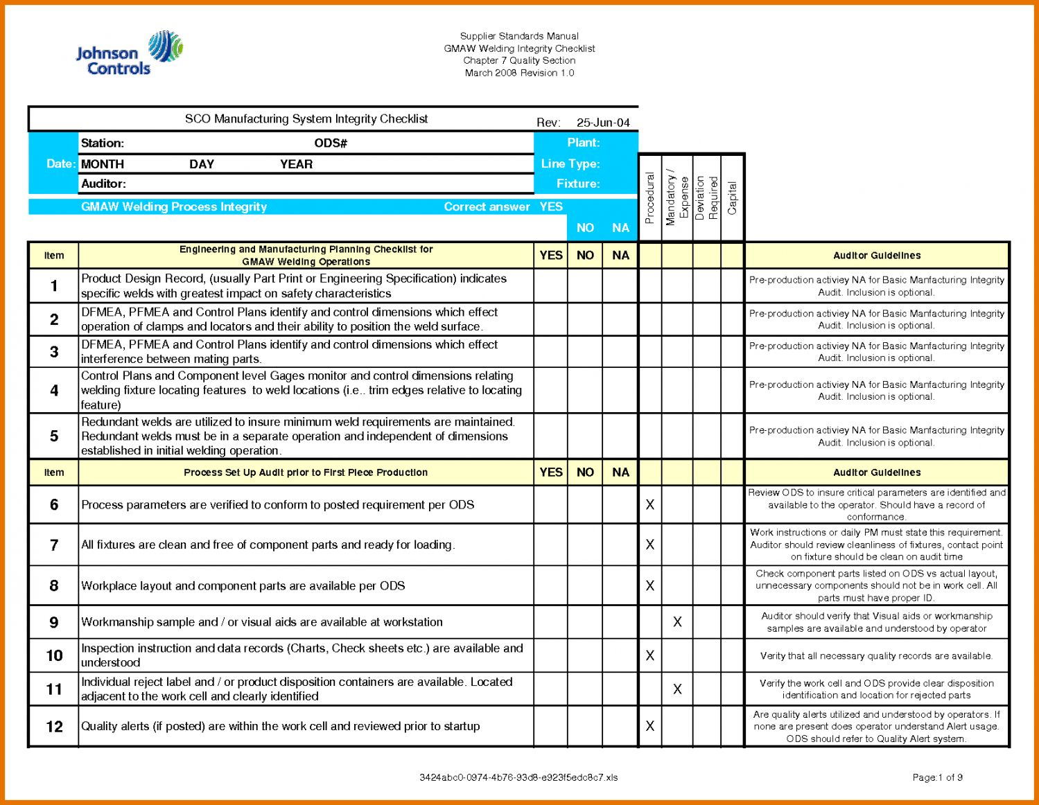 Explore Our Example Of Internal Financial Audit Checklist Template Internal Audit Security Audit Checklist Template Internal audit checklist template excel