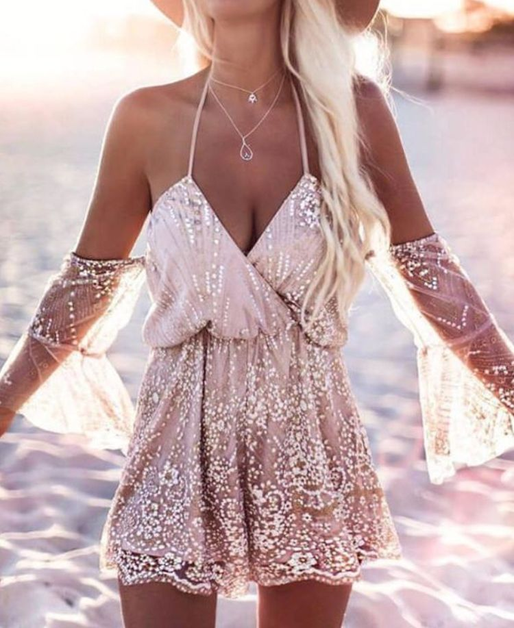 White Chiffon Front Silt Casual Style Backless Halter Top: Boho Fashion, Summer Wear For