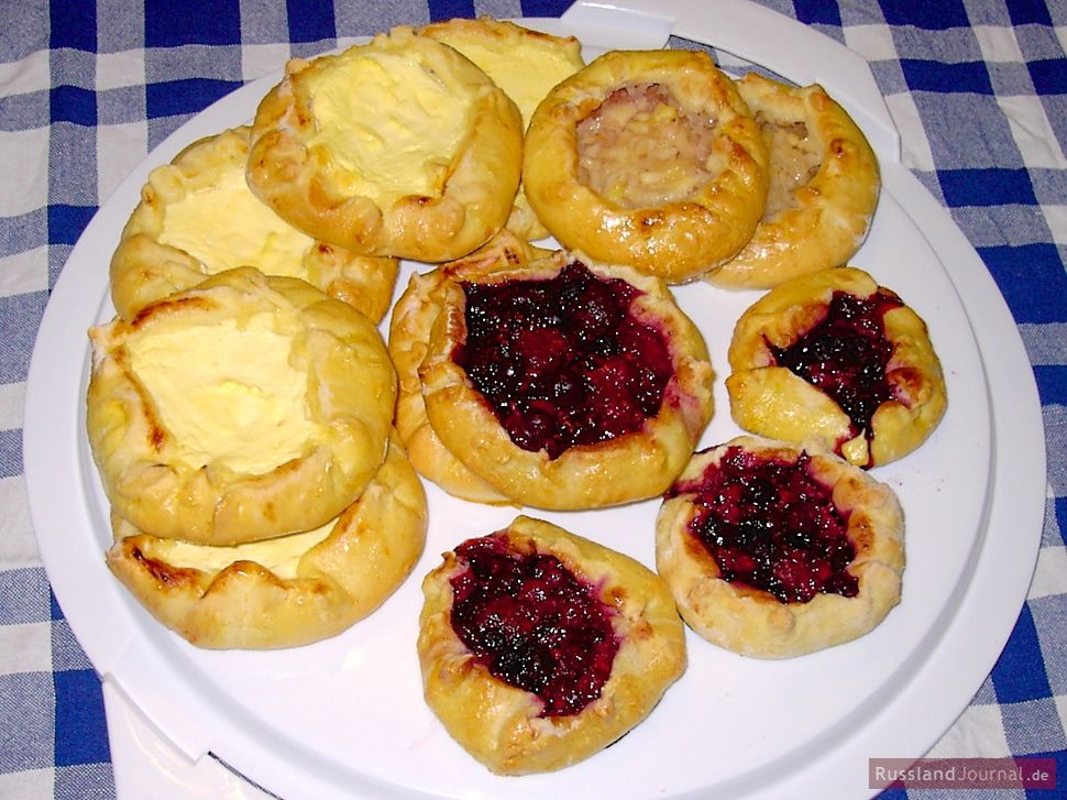 Watrushki u2013 russische Quarktaschen Russian Food Pinterest - russische k che rezepte