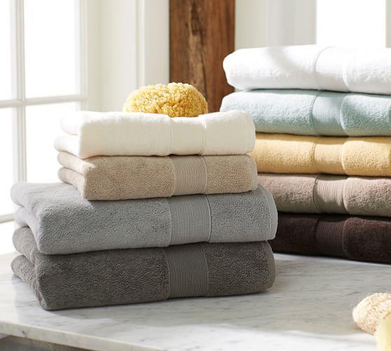 Pb Classic 820 Gram Weight Bath Towels Pottery Barn Flagstone