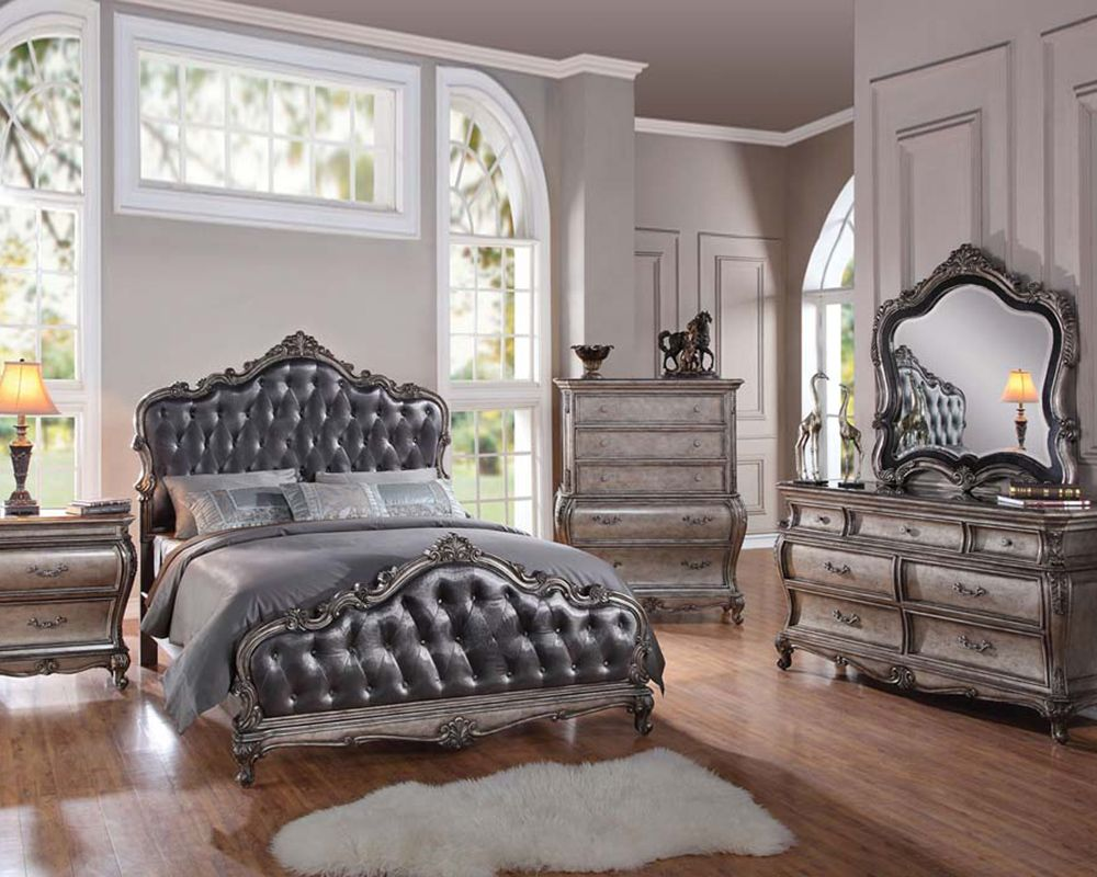 Classic Style Bedroom Set Chantelle by Acme Furniture AC20540SET ...