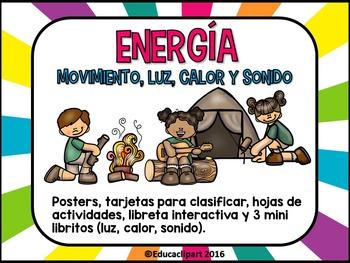 Energía Movimiento Luz Calor Y Sonido Spanish Energy Unit Teachers Pay Teachers Freebies Teacher Freebies Teaching