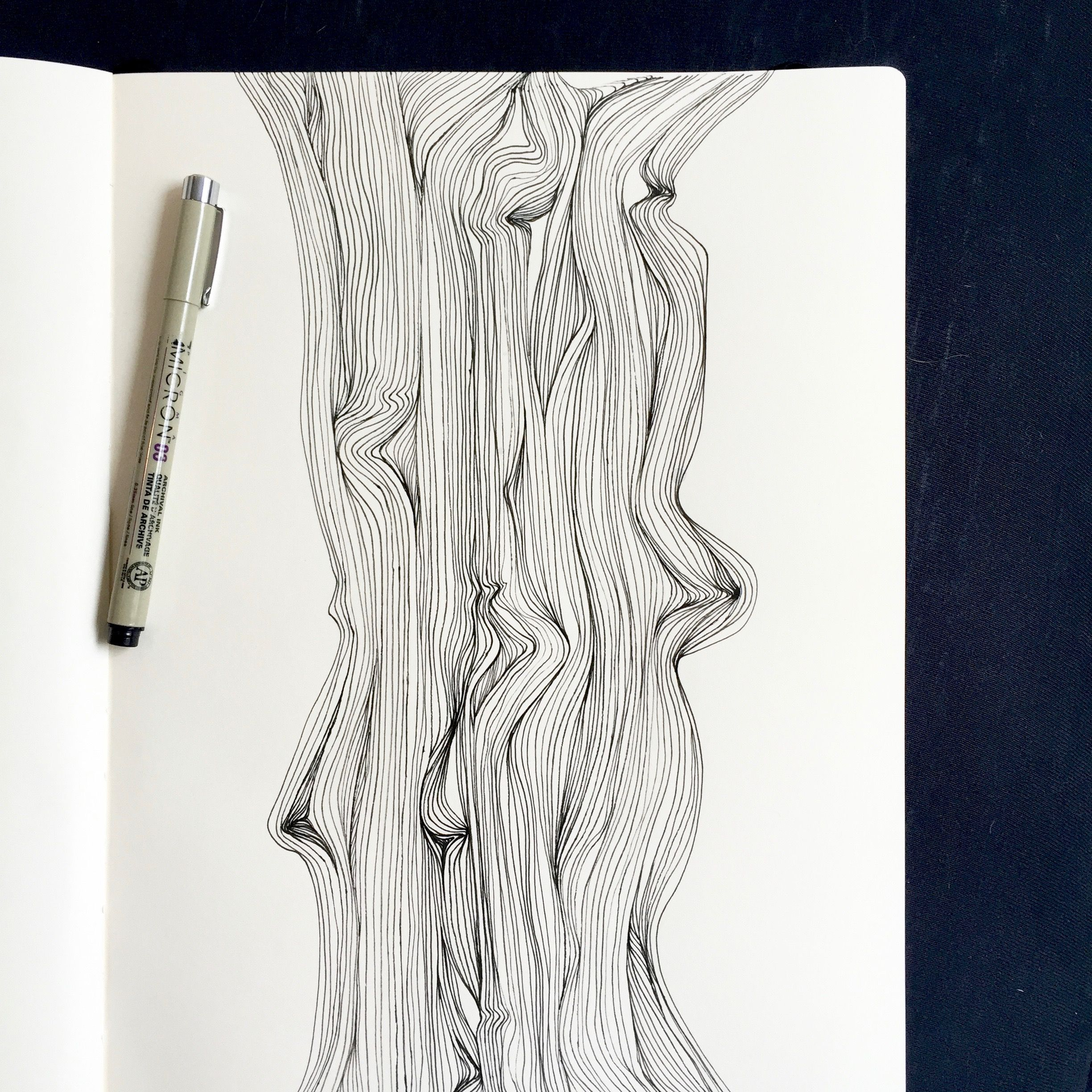 Art Therapy Line Work Lines Abstract Art Illustration