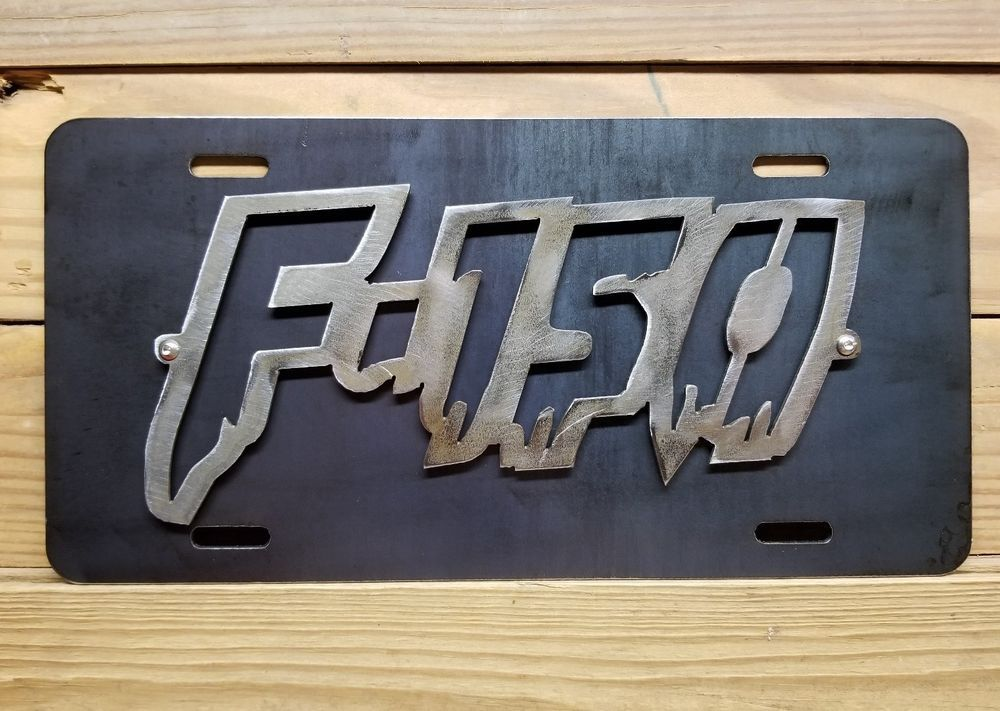 FORD F100 3D CAR TAG LICENSE PLATE F SERIES TRUCK RANGER OLD SCHOOL F150 F250