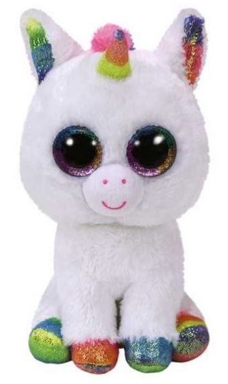 Beanie Boos Pixy The White Unicorn Medium Beanie Boos Ty Beanie Boos Collection Ty Beanie Boos