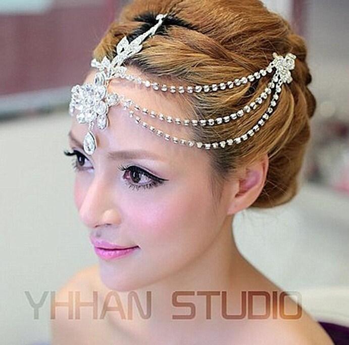 Arabic Swarovski Bridal Tiaras Silver Crystal Vintage
