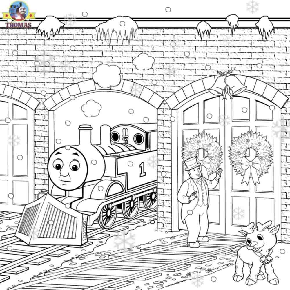 Workbooks thomas the tank engine printable worksheets : Thomas Christmas Coloring Sheets For Children Printable Pictures ...