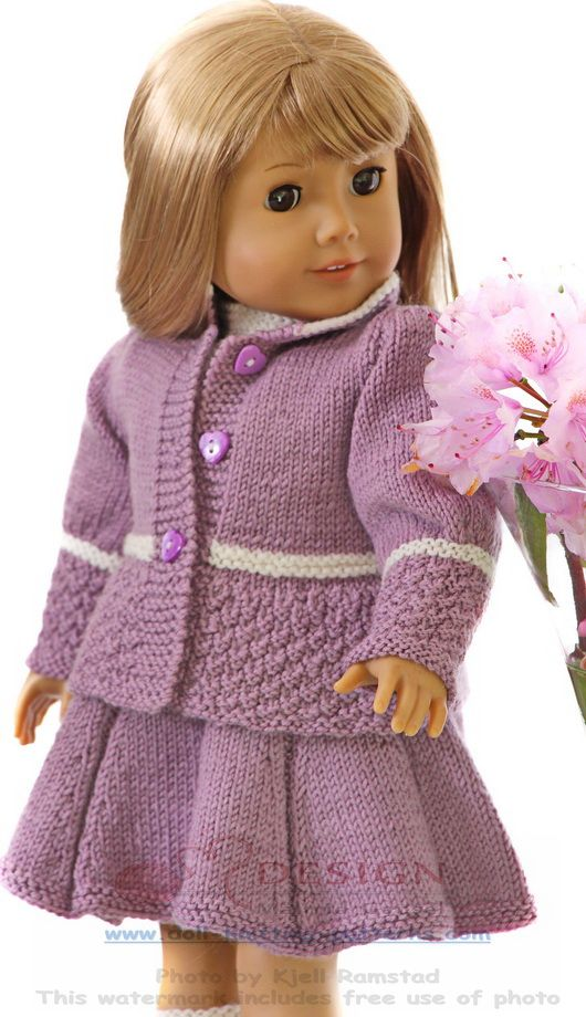 Doll knitting summer fashion. Such a lovely style. | American Girl ...