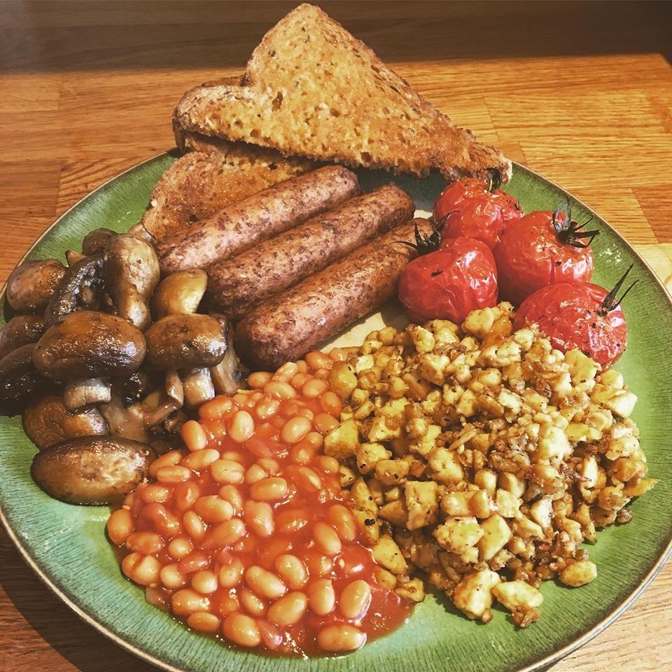 Homemade Full Scottish Breakfast Food: Homemade Full English Vegan Breakfast In 2020