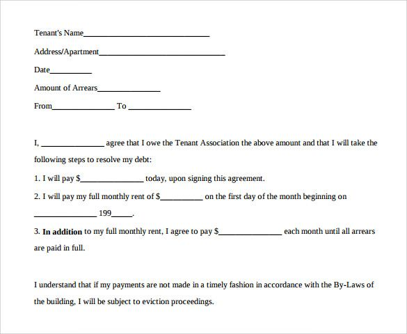 Payment Agreement Sample Payment Agreement Contract Template Debt Agreement