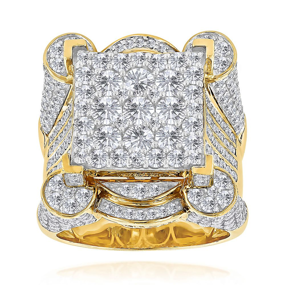 luxurman 14k gold mens designer diamond ring 925ct 799500 64 off - Mens Designer Wedding Rings