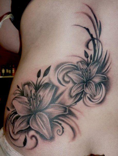 Black Orchid Orquideas Tatuaje Tatuajes Estilistas Tatuajes