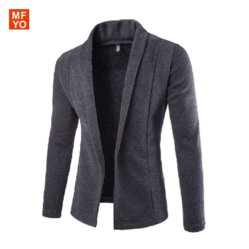 V Neck Sweater Men Autumn New Fashion Mens Slim Cardigans Korean ...