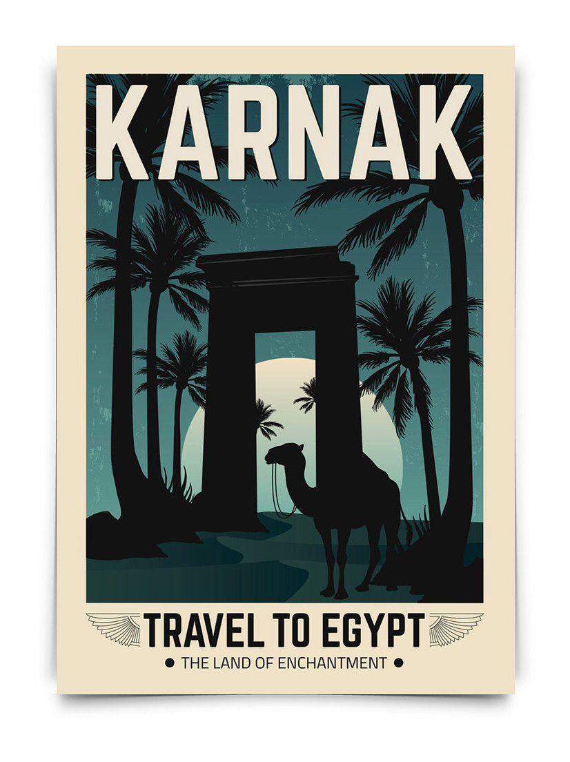 Cartel egipto vintage viaje egipto poster travel poster vintage decoracion lamina antiguo - Poster decoracion ...