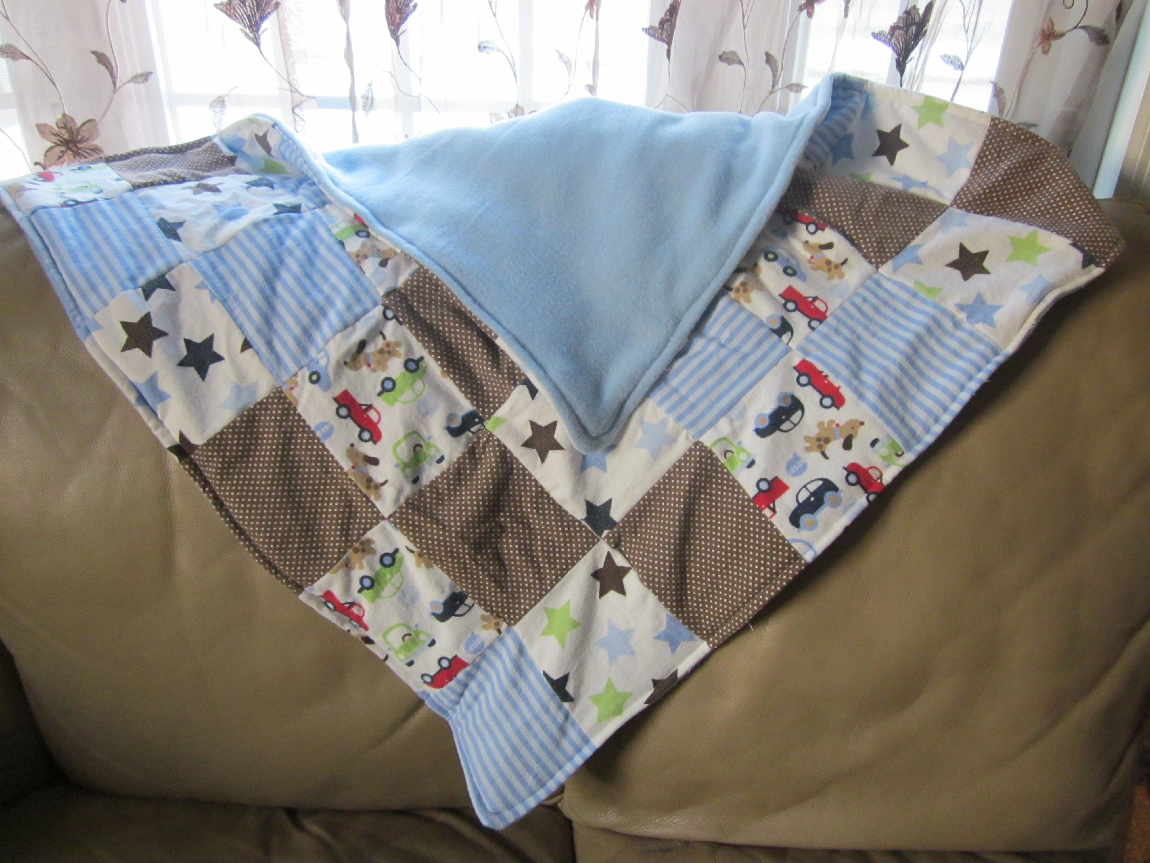 Baby quilt I created with my son's old receiving blankets that he ... : quilts blankets - Adamdwight.com