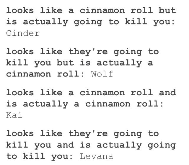 The cinnamon roles of The Lunar Chronicles