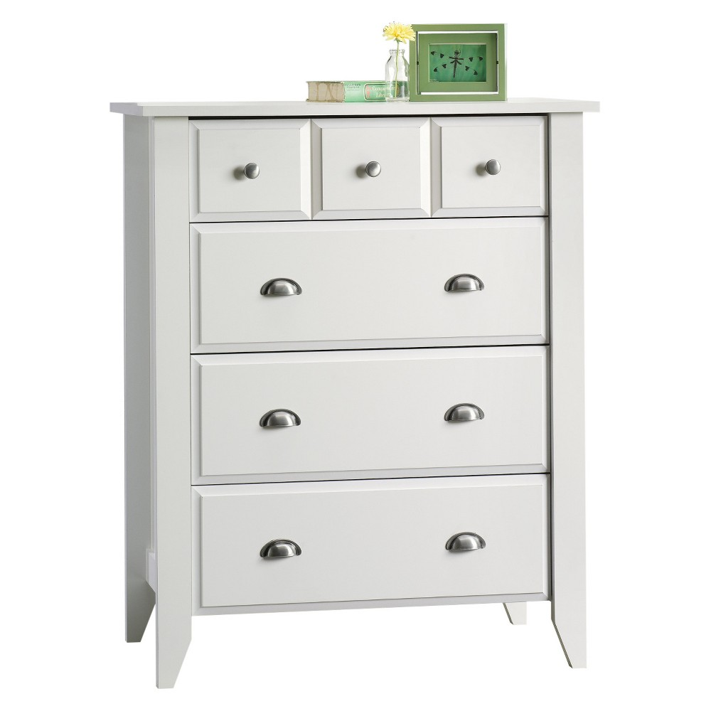 Shoal Creek 4 Drawer Chest Soft White Sauder In 2021 Kids Bedroom Furniture White Chest Of Drawers Bedroom Storage [ 1000 x 1000 Pixel ]