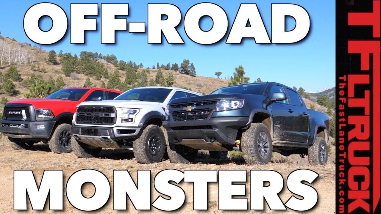 Ultimate Off Road Mashup Chevy Zr2 Vs Ford Raptor Vs Ram Power Wagon W Power Wagon Ford Raptor Ram Power Wagon