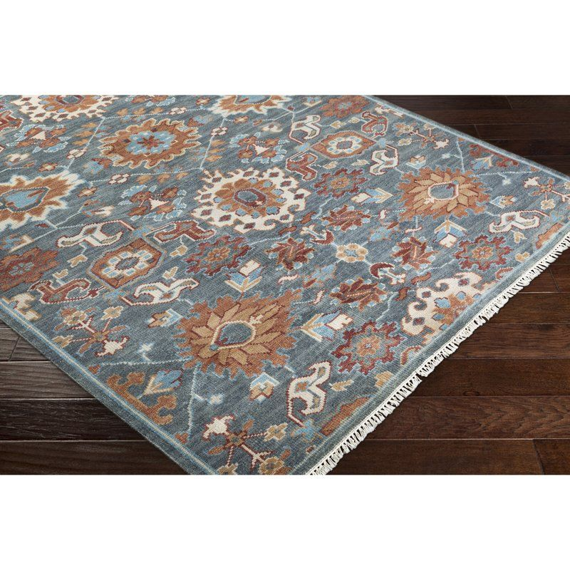 Hand Knotted Wool Dark Green Area Rug