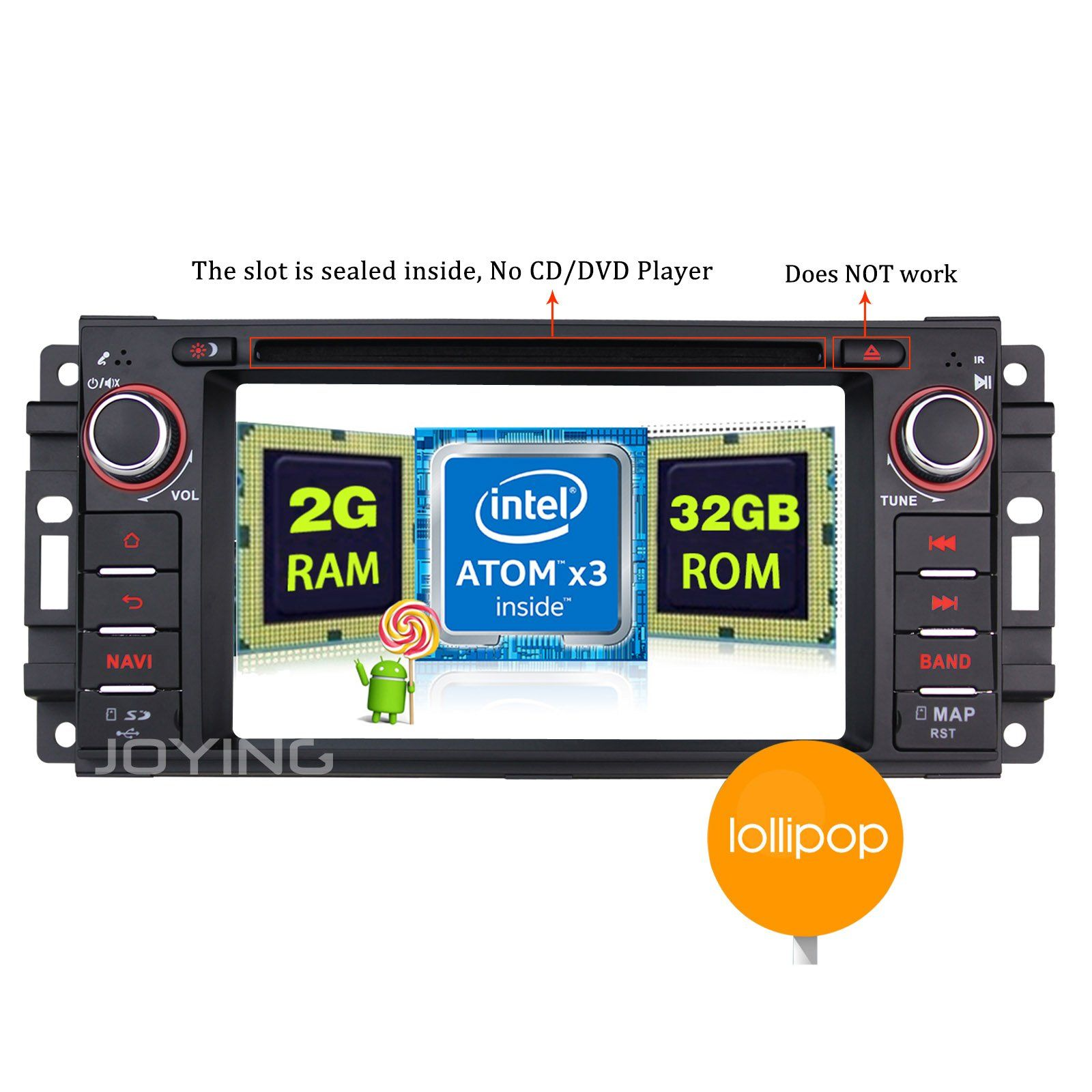 Joying latest android radio 2gb quad core android 5 1 car stereo for jeep wrangler jk dodge
