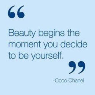 """""""beauty begins the moment you decide to be yourself"""