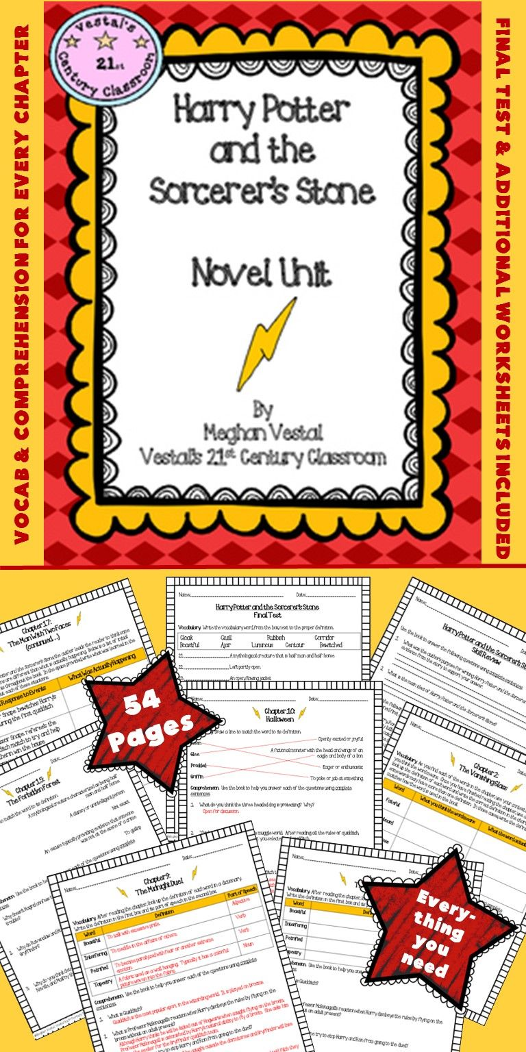 Harry Potter and the Sorcerers Stone worksheets – Harry Potter Worksheets
