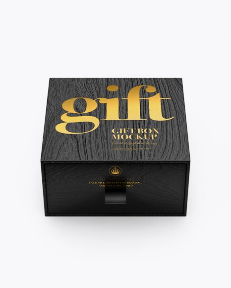 Wooden Gift Box Mockup High Angle Shot In Box Mockups On Yellow Images Object Mockups Wooden Gift Boxes Box Mockup Free Psd Mockups Templates