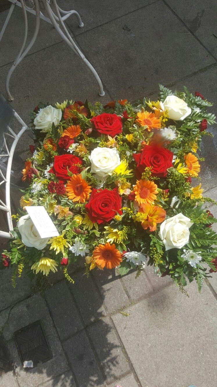 Bright coloured pillow #bellasphotos #bellasblooms #funeralflowers #funeraltribute #funeral #flowers #tribute #funeraltributes #bellasphotos #bellasblooms #bellasphotos #stunning  www.bellasblooms.co.uk
