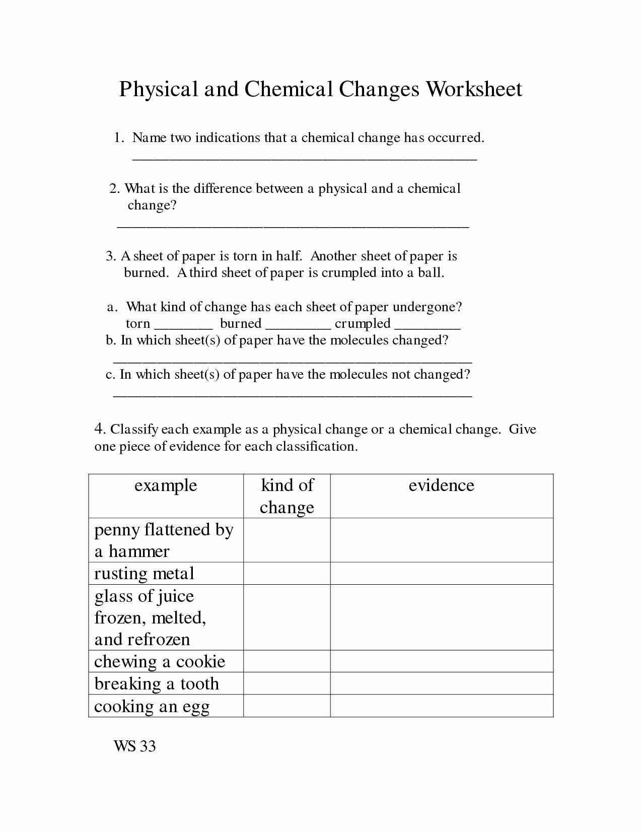 Physical And Chemical Properties Worksheet Luxury 14 Best