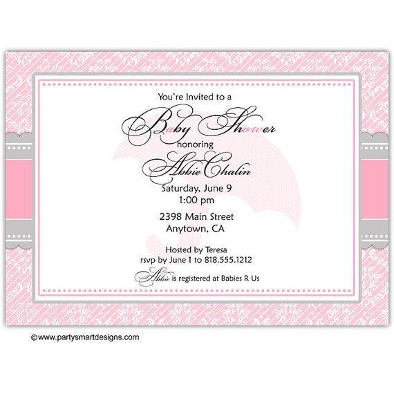 Digital Print It Yourself/Baby Shower Invitations