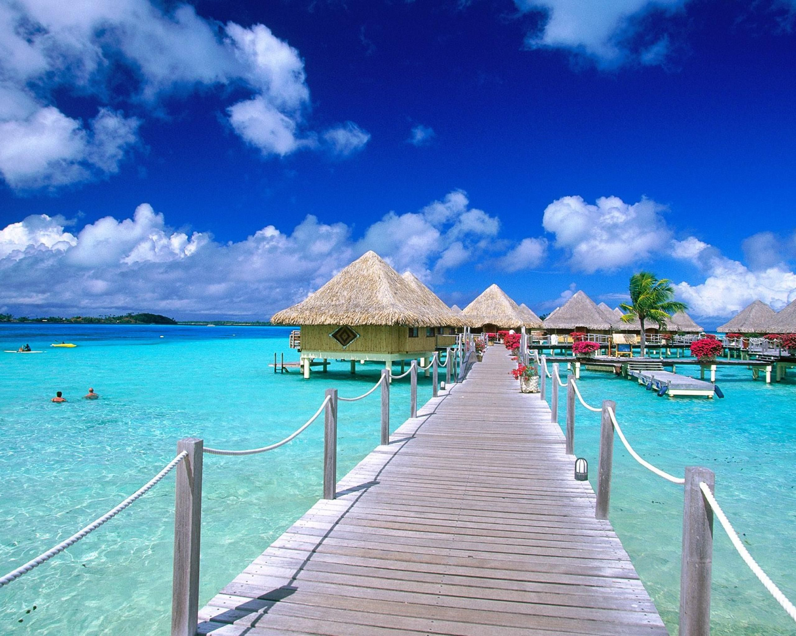 Bora Bora - They have houses on the water!