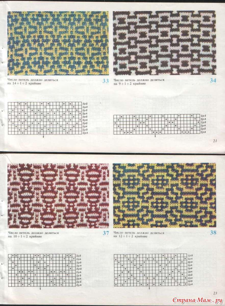 узоры для вязания на машине фото альбомы страна мам Knitting