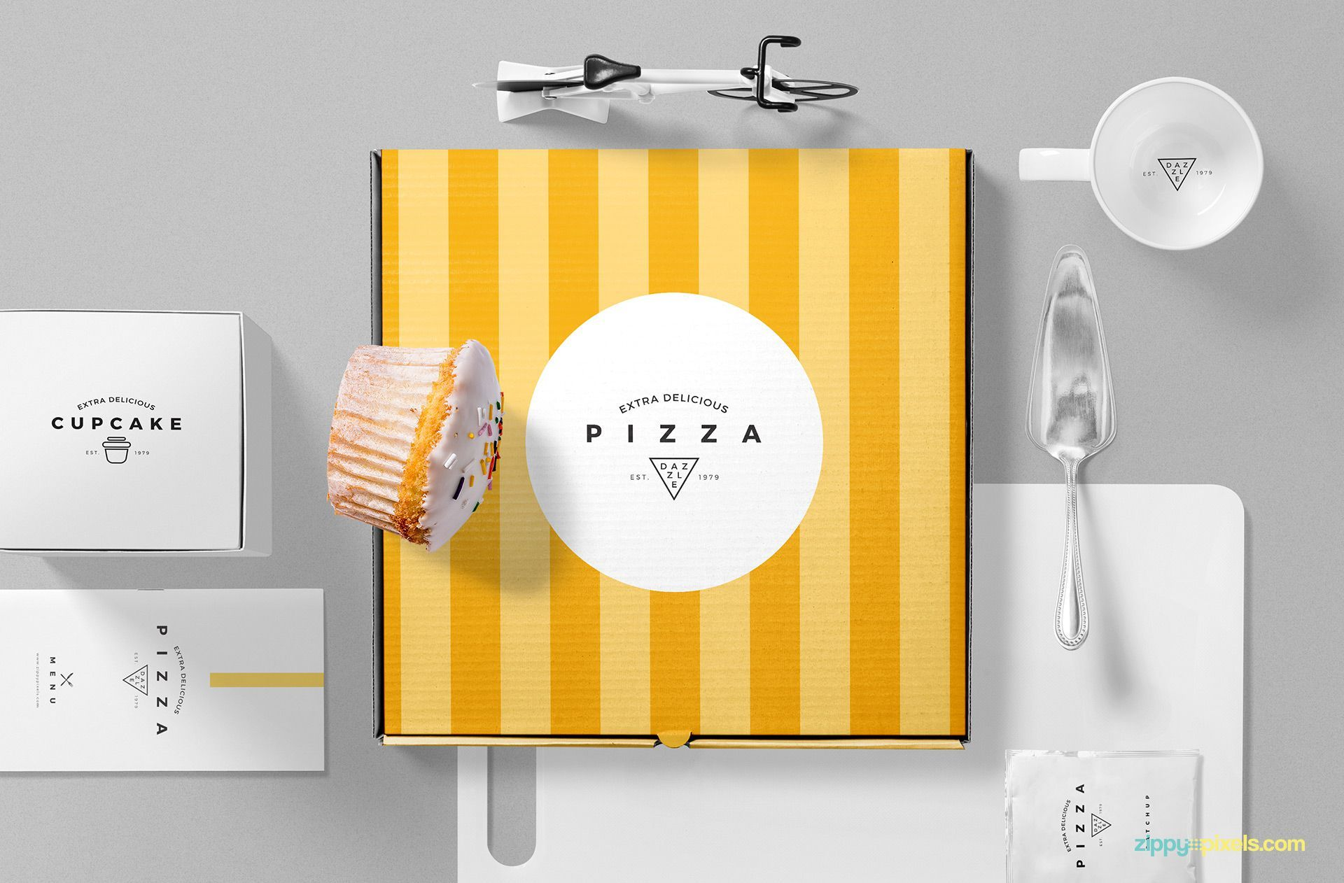 Download Pizza Packaging Mockup Free Psd Scene Zippypixels Packaging Mockup Pizza Box Design Free Mockup