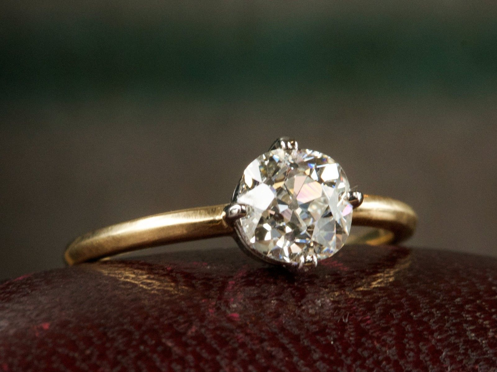 lovely ring solitaire diamond european of rings value engagement cut ct old mine