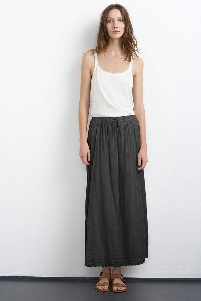 864b40ca SABIYA COTTON GAUZE MAXI SKIRT - Women   Style to be   Primavera ...