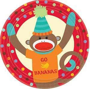 """""""Go Bananas"""" paper plates."""