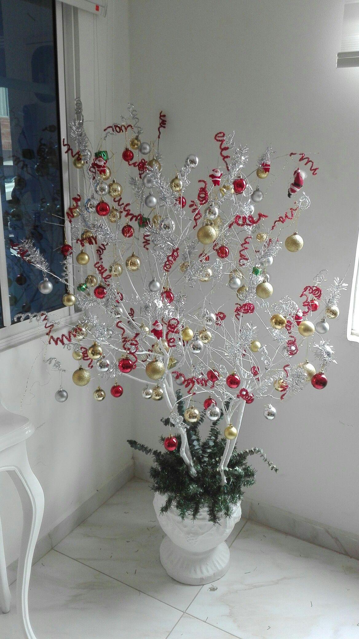 Arbol dise ado chamizo para colocar en matera navidad - Decoracion arboles navidenos ...